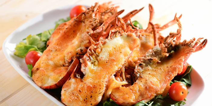 Baked Half Lobster with Cheese and Thousand Island Dressing, The Place, Mongkok, Hong Kong