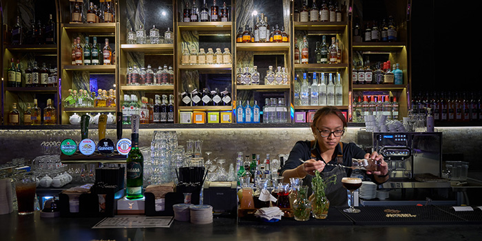 Bar of Switch by Timbre in City Hall, Singapore