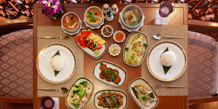 Big Meal of Thai Orchid Restaurant in Patong, Phuket, Thailand