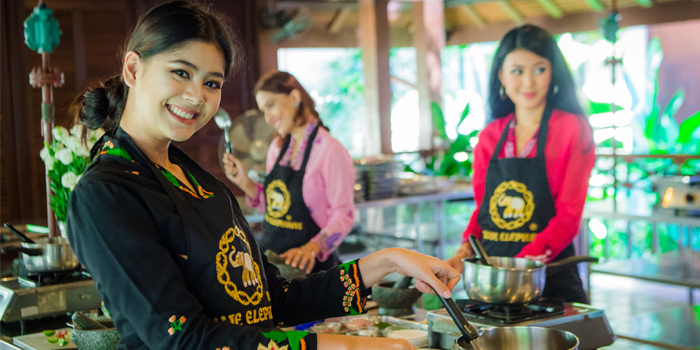 Class of Blue Elephant Cooking School Phuket in Phuket town, Phuket, Thailand .