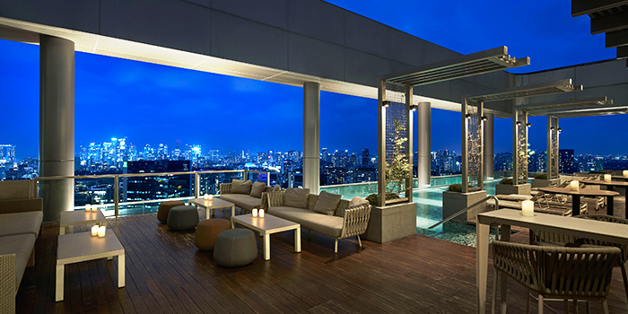 Exterior from Urbana Rooftop Bar at Courtyard by Marriott Singapore in Novena, Singapore