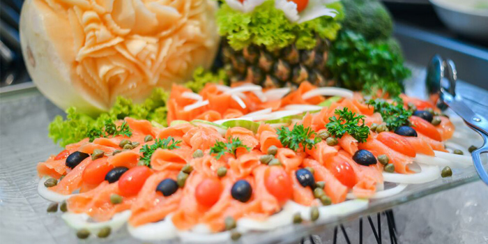 Food from Sea Breeze Cafe in Patong, Phuket, Thailand.