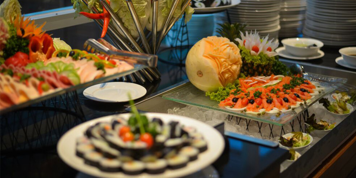 Food Setting of Sea Breeze Cafe in Patong, Phuket, Thailand.