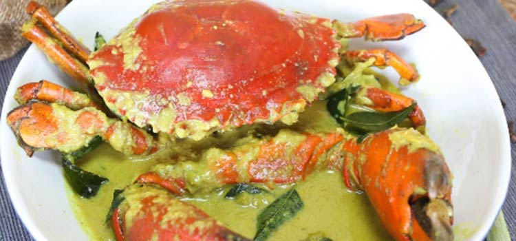 Kepiting Gulai at Pesisir Seafood