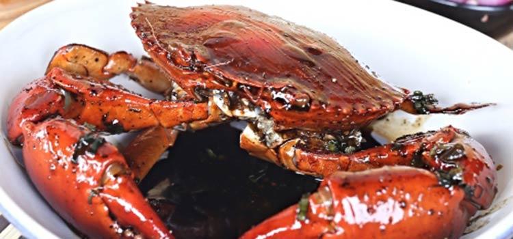 Kepiting Lada Hitam at Pesisir Seafood