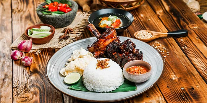 Nasi Ayam Bakar at Nyai Rasa Restaurant