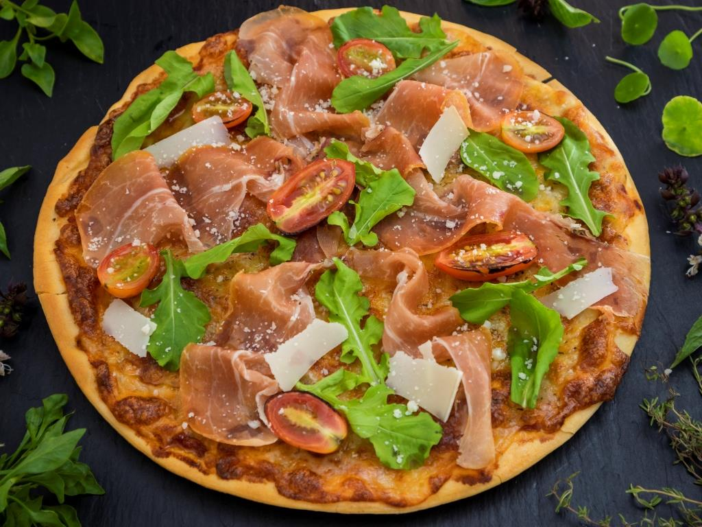 Pizza parma e rucola from BYD Bar & Bistro in Patong, Phuket, Thailand