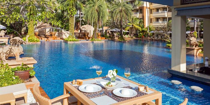 Pool of Charm Thai in Patong, Phuket, Thailand
