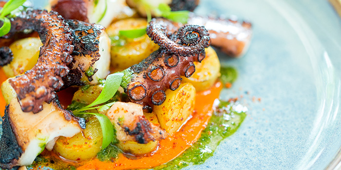 Pulpo a la Gallega from BBR by ALain Ducasse at Raffles Hotel Singapore in Bugis, Singapore