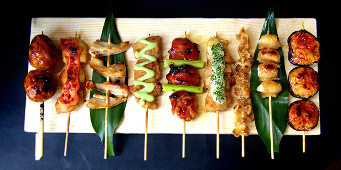 Beef & Chicken Kushiayaki from Box n Sticks in Bugis, Singapore