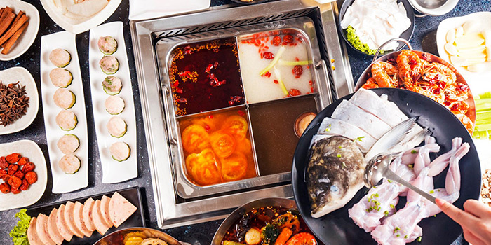 Assorted Food from Frog Meat Fish Head 美蛙鱼头 in Chinatown, Singapore