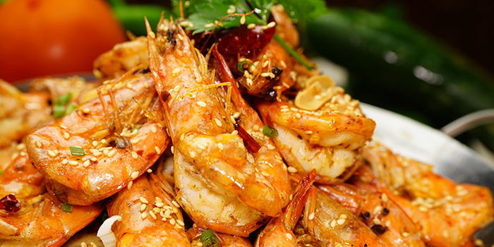 Griddle Prawn from Frog Meat Fish Head 美蛙鱼头 in Chinatown, Singapore