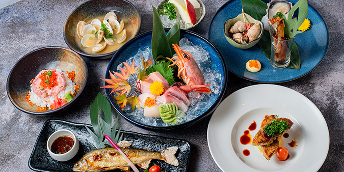 Food Selection from Goro Japanese Cuisine in Buona Vista, Singapore