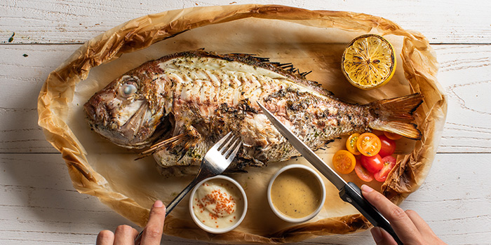 Whole Chargrilled Fish from Greenwood Fish Market @ Quayside Isle in Sentosa, Singapore
