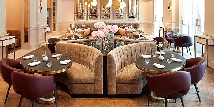 Interior of La Dame de Pic at Raffles Hotel Singapore in Bugis, Singapore