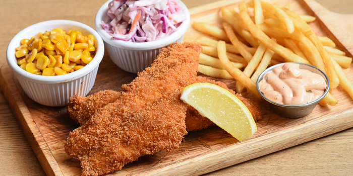 Fish & Chips from Meat you Here at Balmoral Plaza in Newton, Singapore