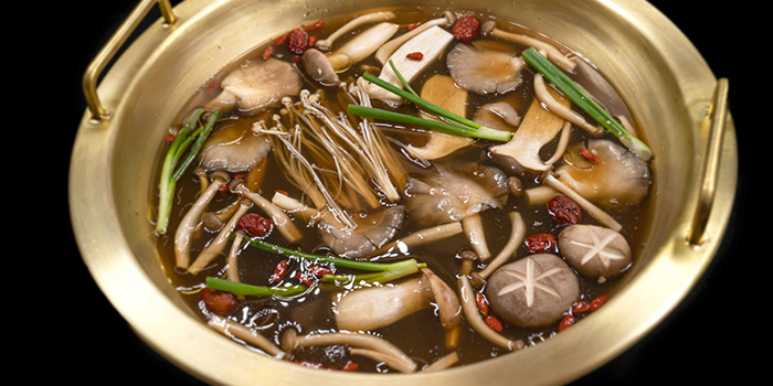 Fresh Mushroom Soup from Mr Lion HotPot in Chinatown, Singapore