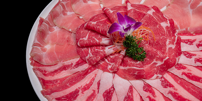 Meat Platter from Mr Lion HotPot in Chinatown, Singapore