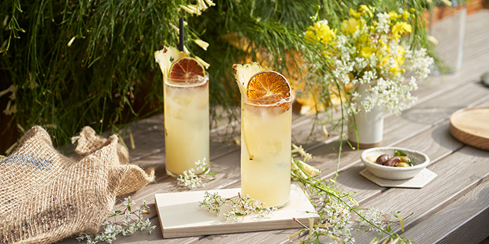 Pine Bamboo Cooler from Raffles Courtyard at Raffles Hotel Singapore in City Hall, Singapore