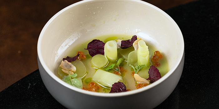 Agastache, Celtuce, Japanese Clams from Restaurant JAG in Tanjong Pagar, Singapore