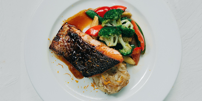 Seared Salmon with Citrus Honey Sauce from REDPAN at Marina Square in Promenade, Singapore