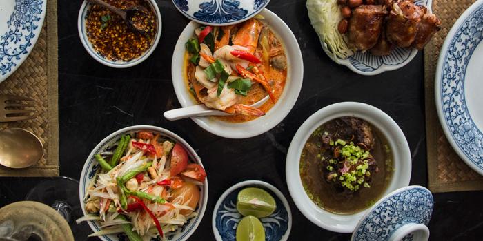 Selection of Food from Thai Lao Yeh at The Cabochon Hotel 14, Sukhumvit Soi 45 Sukhumvit Rd. Khlongtannua, Wattana Bangkok