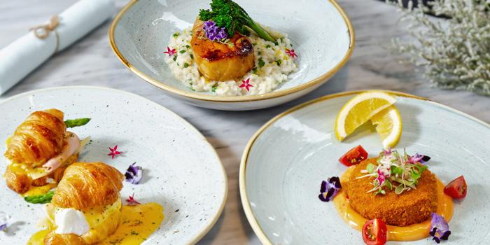 Selection of Food from Cafe Claire at Oriental Residence Bangkok 110 Wireless Road Lumpini, Pathumwan Bangkok