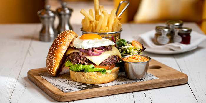 Signature Grilled Beef Burger from Oscar