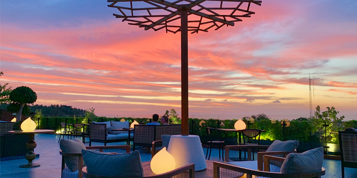 The view of The Dim Sun-Rooftop Bar in Karon, Thailand
