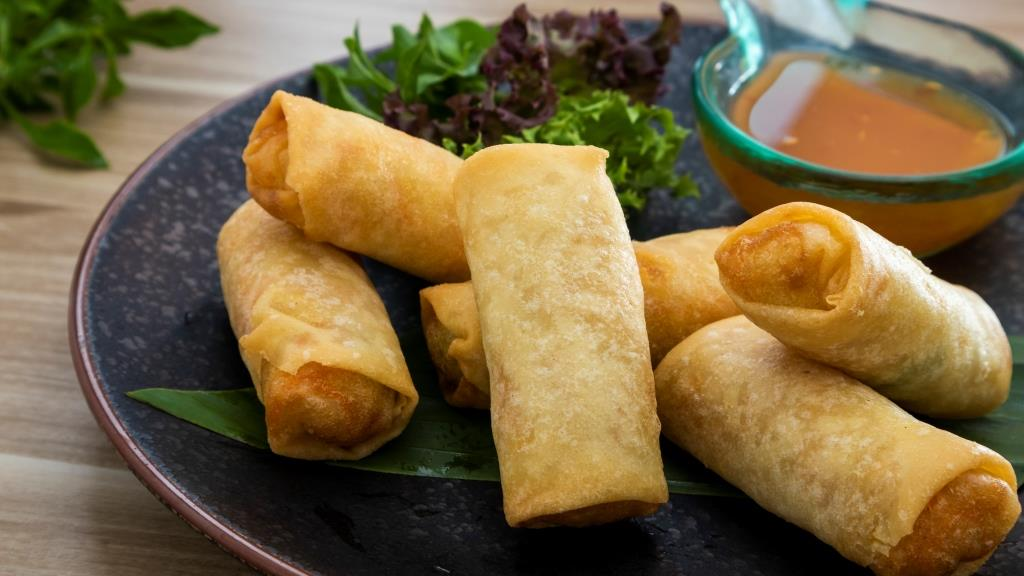 Veggie Spring Rolls from BYD Bar & Bistro in Patong, Phuket, Thailand