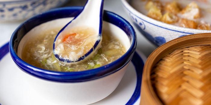 Crab and Asparagus Soup at MINQ