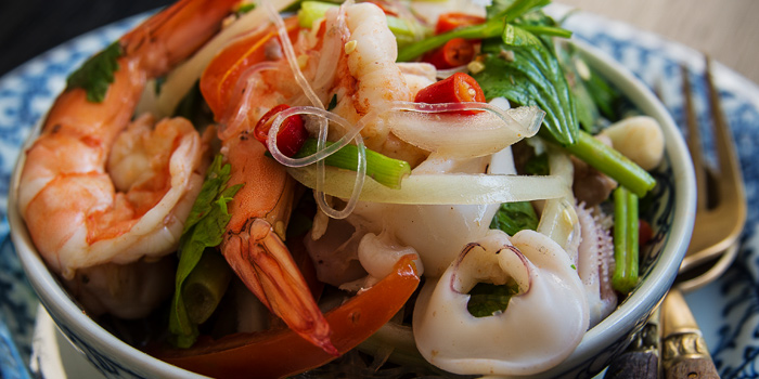 Yum Talay from Thai Lao Yeh at The Cabochon Hotel 14, Sukhumvit Soi 45 Sukhumvit Rd. Khlongtannua, Wattana Bangkok