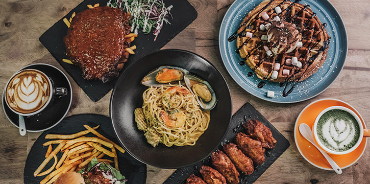 Food Spread from 7th Heaven KTV & Cafe at SAFRA Tampines in Tampines, Singapore