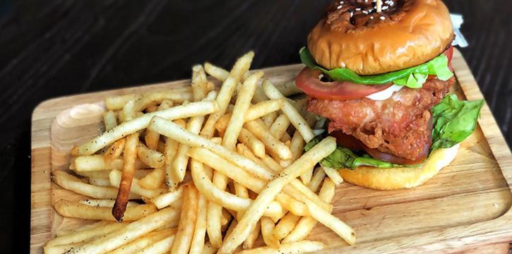 Har Cheong Gai Burger from Dual in Bugis, Singapore
