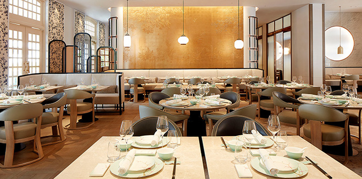 Interior of 藝yì by Jereme Leung at Raffles Hotel Singapore in City Hall, Singapore