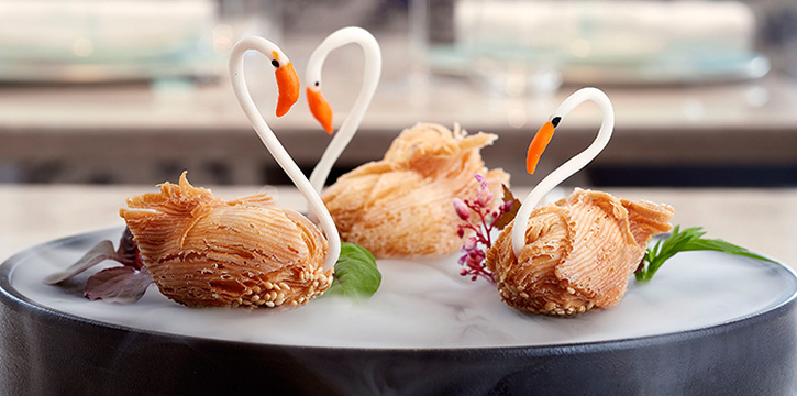 Swan-shaped Durian Pastries from 藝yì by Jereme Leung at Raffles Hotel Singapore in City Hall, Singapore