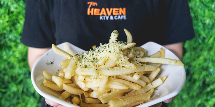 Truffle Fries from 7th Heaven KTV & Cafe at SAFRA Tampines in Tampines, Singapore