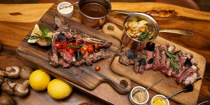 Grilled Steaks from Scalini at Hilton Sukhumvit Hotel, on Sukumvit Soi 24