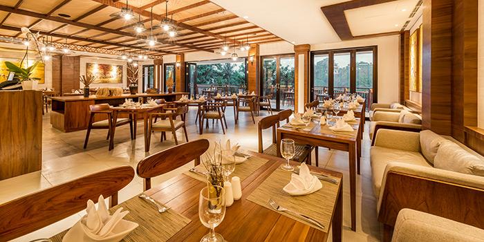 Interior from Tanarasa Restaurant, Ubud, Bali