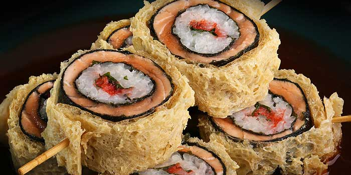 Salmon Ring Roll at Sumibi Japanese Restaurant