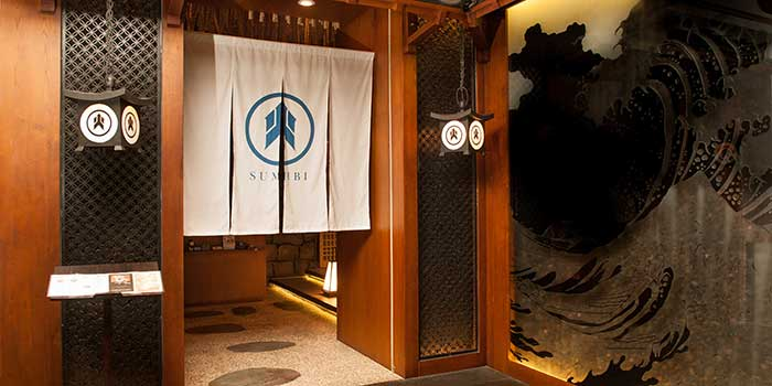 Entrance at Sumibi Japanese Restaurant