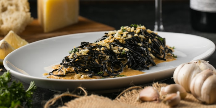 Squid Ink In Uni Sauce at Liberta, Jakarta