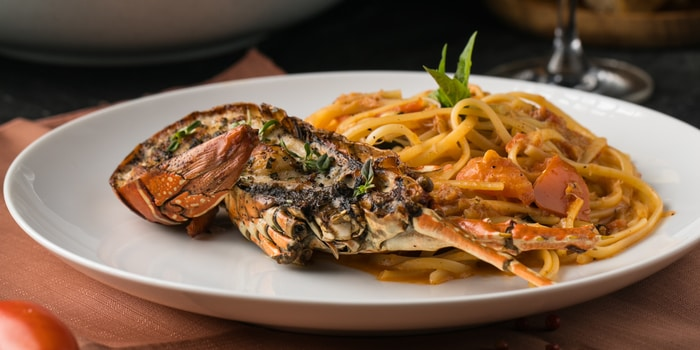 Lobster Linguine at Liberta, Jakarta