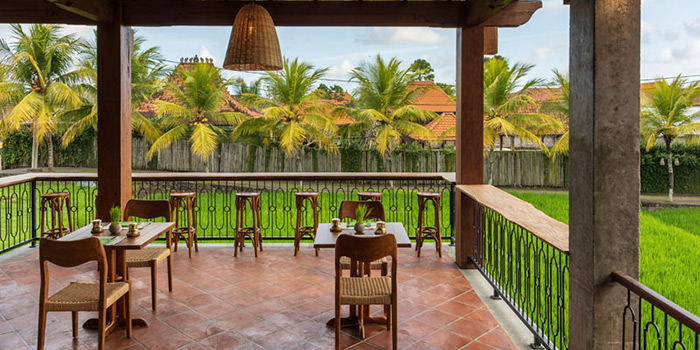 Interior from Pistachio Restaurant, Ubud, Bali