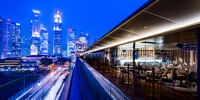 Sky Lounge ALFRESCO of Aura at National Gallery Singapore in City Hall, Singapore