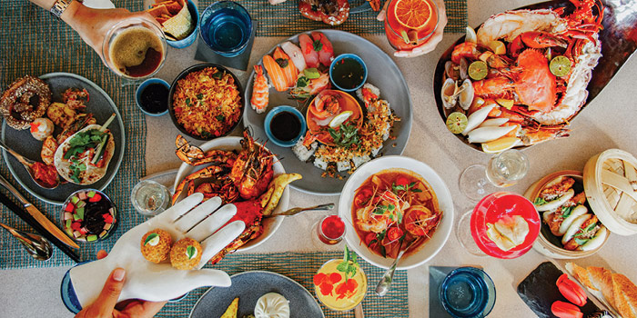 Food at Starfish Bloo, Seminyak
