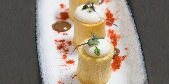 Bravas Potatoes from Albricias at Chatrium Residence Sathon, Soi Naradhiwas 24, Bangkok