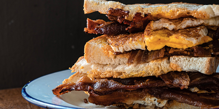 Bacon & Egg Sarnie from Sarnies Cafe at Telok Ayer in Raffles Place, Singapore