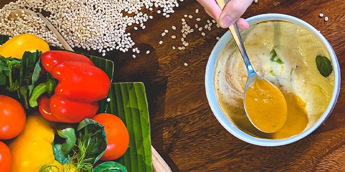 Mediterranean Vegetables Velouté from Naturelle Cafe + Dining + Lounge at Phoenix Park in Tanglin, Singapore
