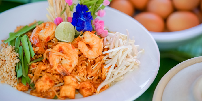 Pad Thai from Xana Beach Club in Bangtao, Phuket, Thailand.